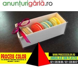 Imagine anunţ Cutii din carton alb Macarons Process Color