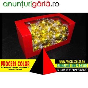 Imagine anunţ Cutii din carton colorat pentru bomboane Process Color