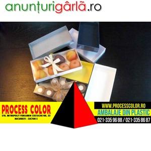 Imagine anunţ Cutii din carton pentru 10 praline Process Color
