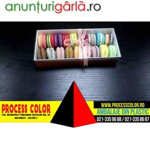 Imagine anunţ Cutii din carton pentru 18 Macarons Process Color