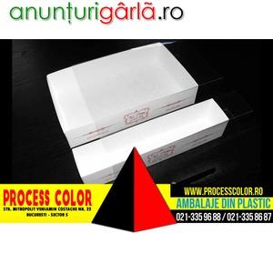Imagine anunţ Cutii inscriptionate pentru miniprajituri Process Color