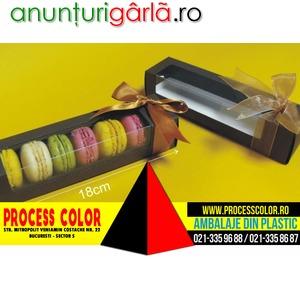 Imagine anunţ Ambalaje Macarons, Cutii din carton 7 Macarons, Minimacarons Process Color