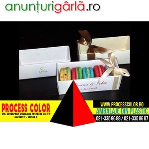 Imagine anunţ Cutie din carton Macarons pentru marturii nunta Process Color