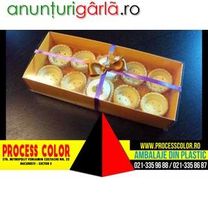 Imagine anunţ Cutii carton colorat pentru cosulete tarte Process Color
