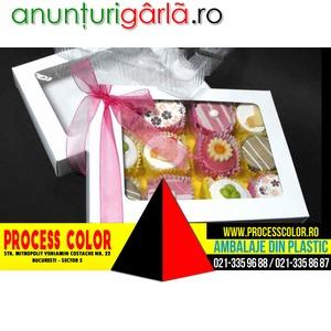 Imagine anunţ Cutii carton cu fereastra petits fours Process Color