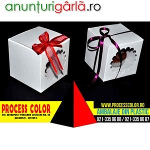 Imagine anunţ Cutii carton cupcakes Process Color