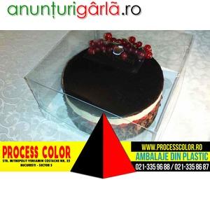 Imagine anunţ Cutii plastic pentru tort Process Color