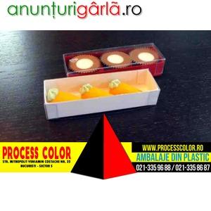 Imagine anunţ Cutiute din plastic 4 praline Process Color