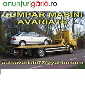 Imagine anunţ CUMPAR AUTO AVARIATE, AUTO DEFECTE, DAUNE TOTALE, EPAVE
