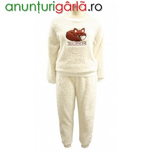 Imagine anunţ Fox Shaggy Fleece Twosie Ladies Pajama Set