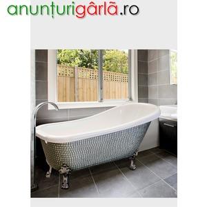 Imagine anunţ cada baie cu mozaic- cazi de baie lux