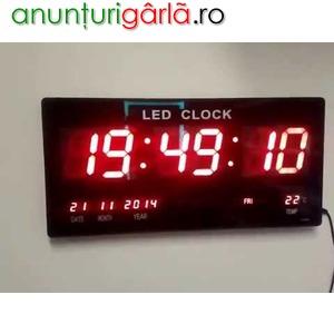 Imagine anunţ Ceas led electronic pentru perete