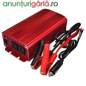 Imagine anunţ Invertor tensiune 12V/220V1000w CU 2 PRIZE +usb