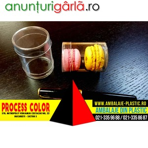 Imagine anunţ Cilindri din plastic cu o margine indoita pentru macarons Process Color
