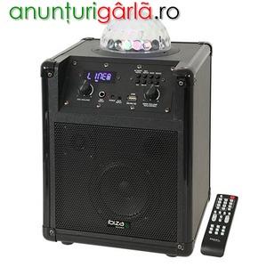 Imagine anunţ Boxa portabila Ibiza Sound KUBE60-BK 60W