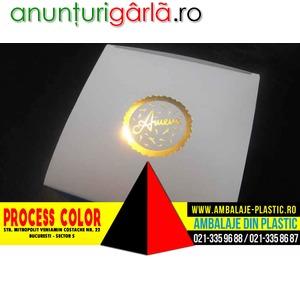 Imagine anunţ Cutii inscriptionate cu folio pentru cadouri Process Color