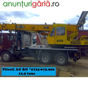 Imagine anunţ Macara Automacara 12.5 to Pitesti *0723-675.900