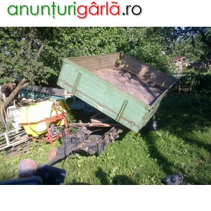 Imagine anunţ Vand remorca monoax basculabila 4 tone recent adusa in tara