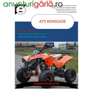 Imagine anunţ ATV KXD Warrior 125cc , Livrare rapida