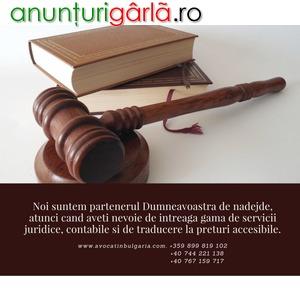 Imagine anunţ Servicii juridice si de contabilitate pentru societati noi si existente din Bulgaria