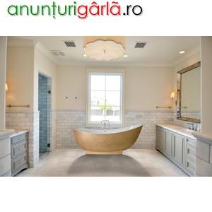 Imagine anunţ cada baie ovala la comanda cu mozaic de lux