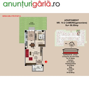 Imagine anunţ Apartament 2 camere Brasov , zona Tractorul