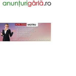 Imagine anunţ Infiintare firma Motru la Registrul Comertului Targu Jiu