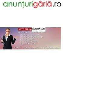 Imagine anunţ Infiintare firma Targu Carbunesti la Registrul Comertului Targu Jiu Gorj