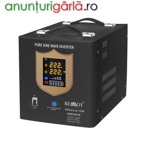 Imagine anunţ UPS pentru centrala termica 12V, 1200W, sinus pur