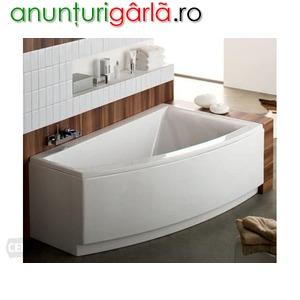 Imagine anunţ cada baie colt asimetrica 160x100 cm
