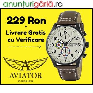 Imagine anunţ www⚫autenticshop⚫ro LICHIDARE STOC ceas de mana AVIATOR barbatesc cronograf LIVRARE GRATIS