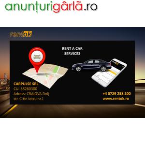 Imagine anunţ Inchirieri auto Craiova. Servicii Rent a car Craiova Aeroport. Inchirieri masini cu si fara garantie, Preturi ieftine. Optiuni gratuite. Km nelimitati