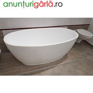 Imagine anunţ cada baie ovala
