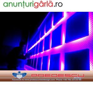 Imagine anunţ Decoratiuni Club Perne Tapitate Cu Led RGB Predescu Rebel Design