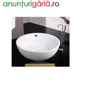 Imagine anunţ cada baie rotunda freestanding