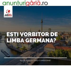 Imagine anunţ Locuri de munca - vorbitori germana
