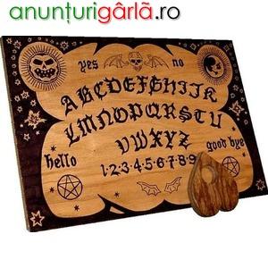Imagine anunţ Tabla de spiritism Oujia+cadou set rune