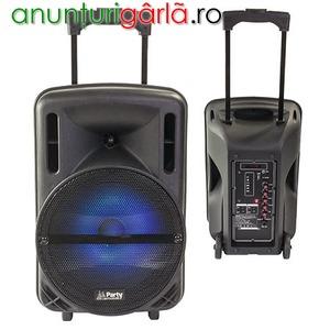 Imagine anunţ Boxa portabila activă cu iluminare LED