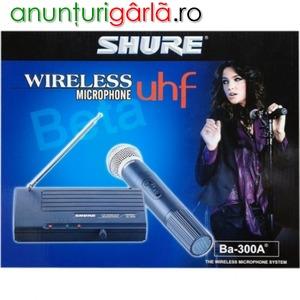 Imagine anunţ Microfon wireless cu reciver Shure Beta BA 300A