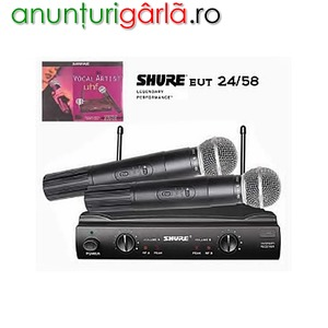 Imagine anunţ Set microfoane SM 58 Vocal Artist UHF