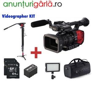 Imagine anunţ Camere video Panasonic si Sony pentru profesionistii care filmeaza Nunti