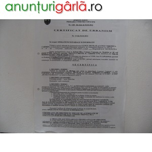 Imagine anunţ Teren Intravilan Lotizat C-tii Destinatie Mixta Localitatea Copaceni Judet Ilfov