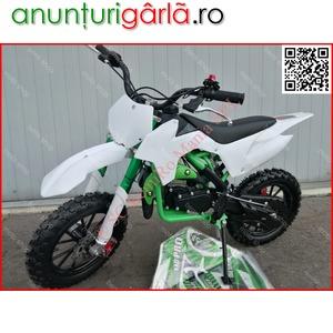 "Imagine anunţ MOTO CROSS 50cc midi DIRT BIKE 702A - Poket J10"" OFERTA livrare GRATIS"