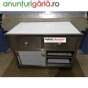 Imagine anunţ Dulap inox cu 2 sertare si usi culisante