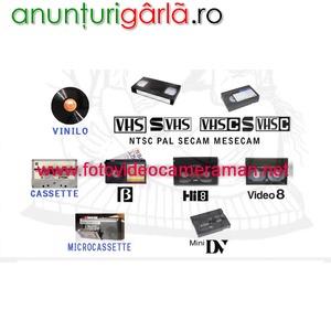 Imagine anunţ Materiale video si audio transferate pe DVD