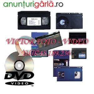 Imagine anunţ Pentru transfer casete pe dvd