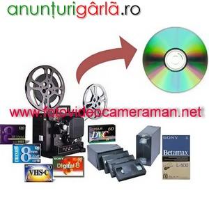 Imagine anunţ Copieri, transcodari, montaj de pe orice tip de caseta pe dvd