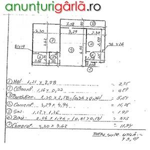 Imagine anunţ Apartament 2 camere, 43.07 mp, Hunedoara