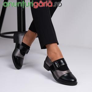 Imagine anunţ Pantofi casual dama piele ecologica bronz Julian - 22 % REDUCERE