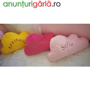 Imagine anunţ Realizam pernute decorative personalizate